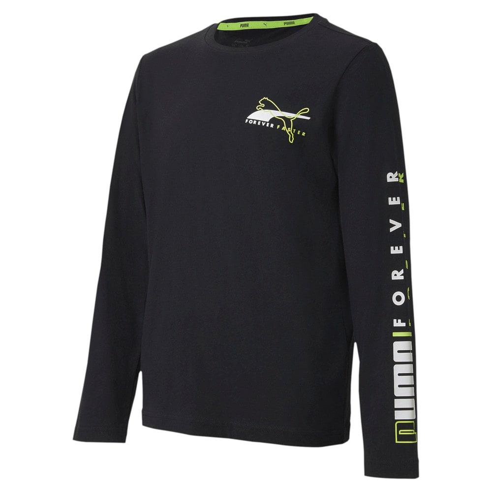 Изображение Puma Детская футболка с длинным рукавом Alpha Longsleeve Tee #1