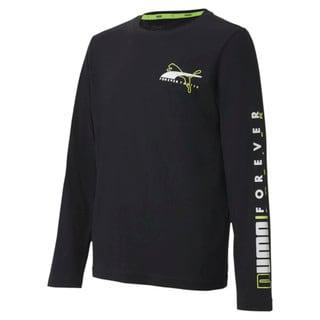 Изображение Puma Детская футболка с длинным рукавом Alpha Longsleeve Tee