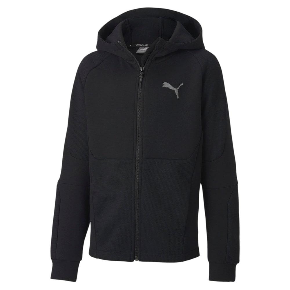 Зображення Puma Дитяча толстовка EVOSTRIPE Full-Zip Hoodie #1: Puma Black