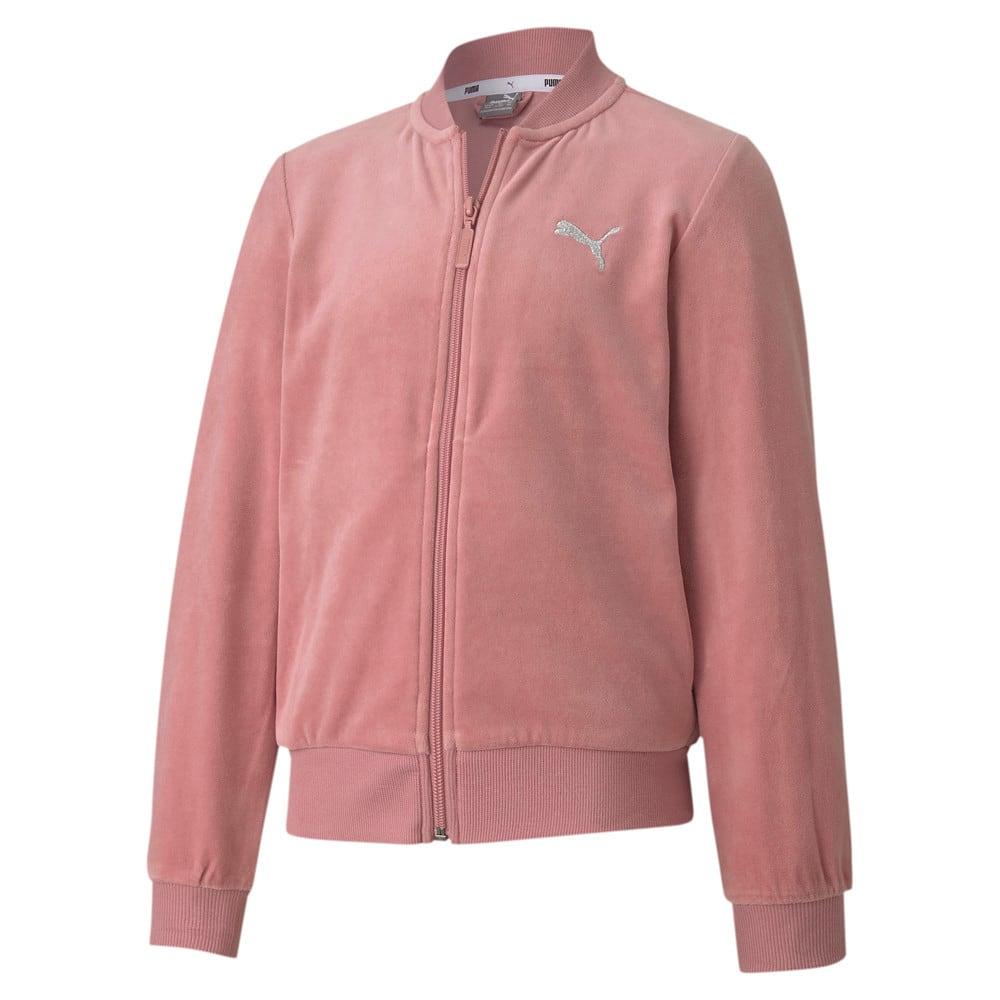 Image Puma Alpha Velvet Full Zip Youth Track Jacket #1