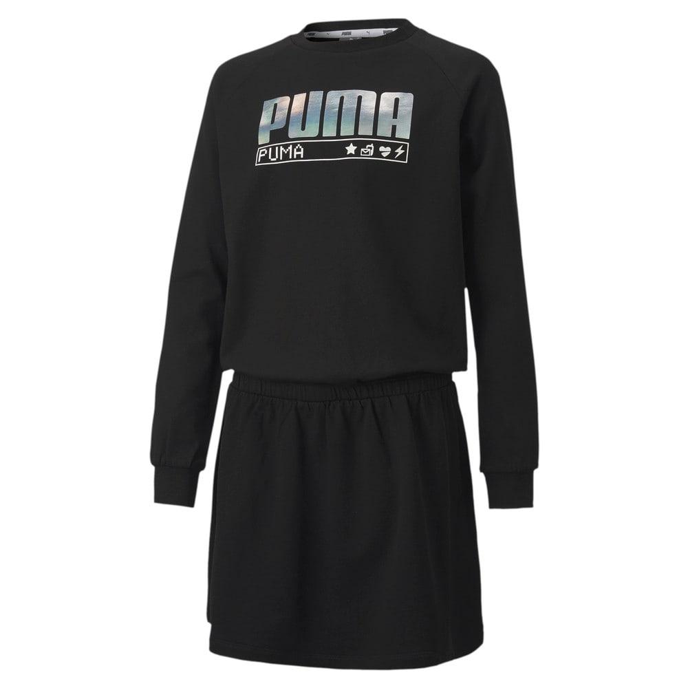 Image PUMA Vestido Alpha Long Sleeve Feminino Juvenil #1