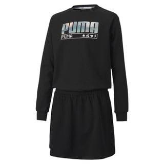 Image PUMA Vestido Alpha Long Sleeve Feminino Juvenil