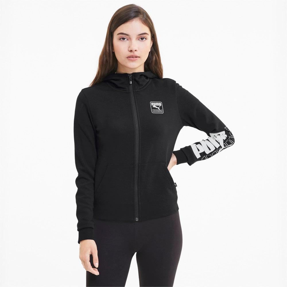 Изображение Puma Толстовка Rebel Full Zip Women's Hoodie #1