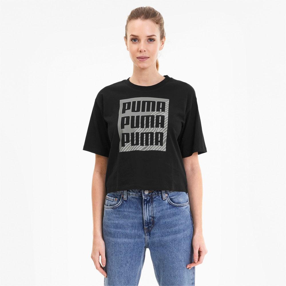 Görüntü Puma SUMMER PRINT GRAPHIC Kadın T-shirt #1