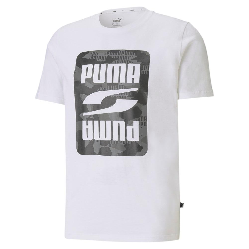 Imagen PUMA Polera con estampado gráfico de camuflaje para hombre PUMA Rebel #1
