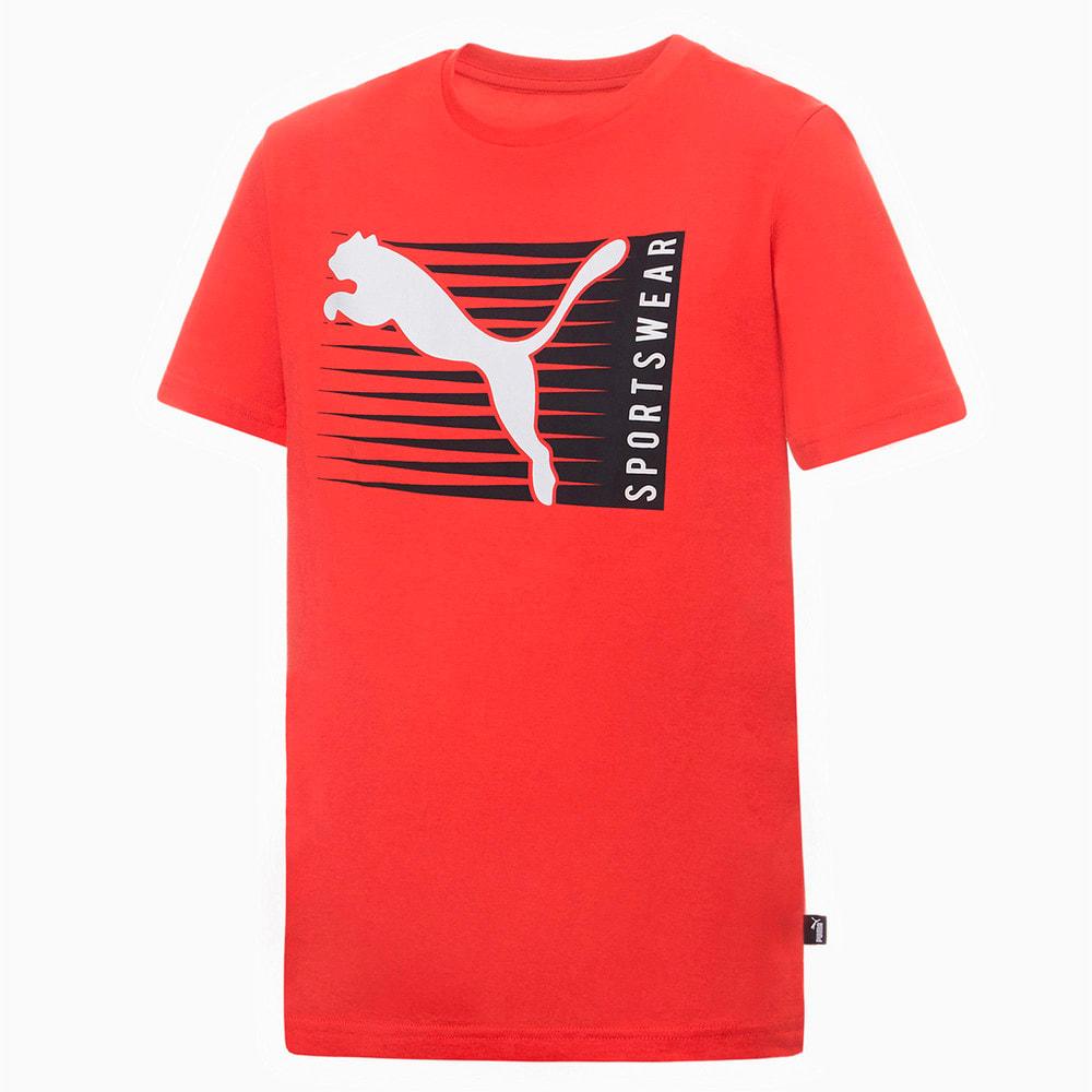 Изображение Puma Детская футболка Boys Cat Logo Tee #1