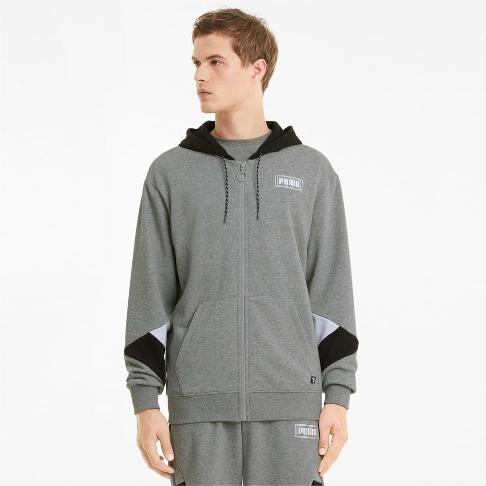 Изображение Puma Толстовка Rebel Full-Zip Men's Hoodie #1
