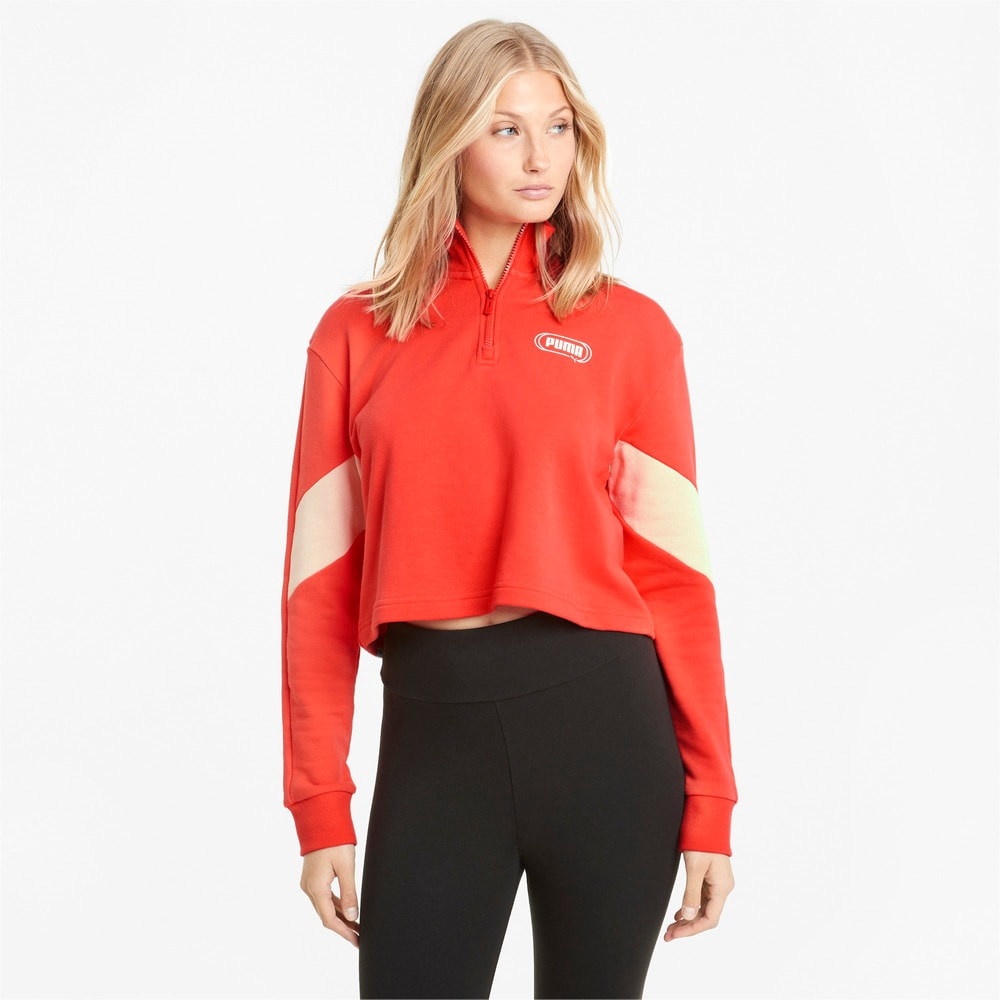 Image Puma Rebel Half-Zip Crew Neck Women's Sweater #1