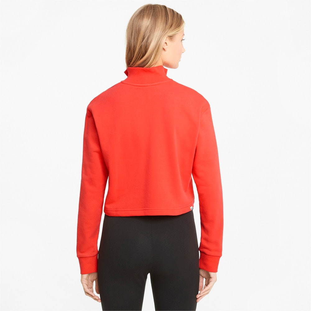 Image Puma Rebel Half-Zip Crew Neck Women's Sweater #2