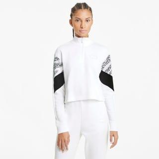 Изображение Puma Толстовка Rebel Half-Zip Crew Neck Women's Sweater