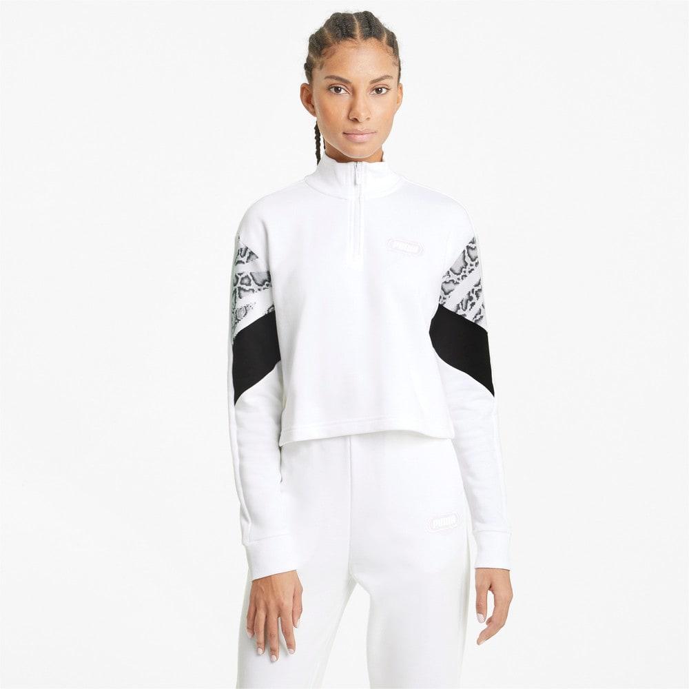 Image Puma Rebel Half-Zip Crew Neck Women's Sweater #1