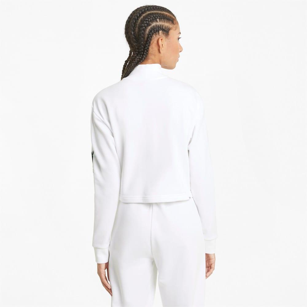 Imagen PUMA Polerón de cuello redondo con cierre medio para mujer Rebel #2