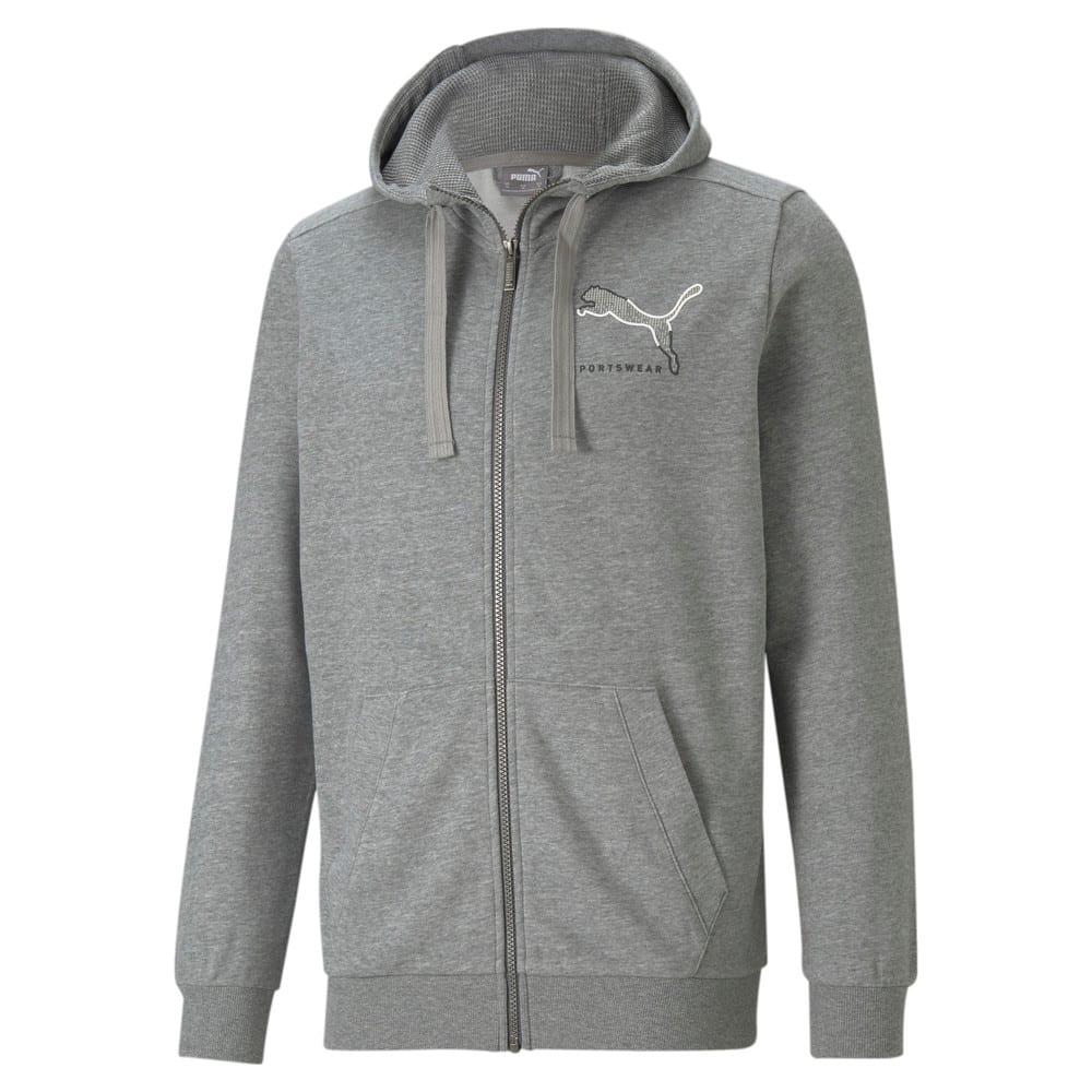 Изображение Puma Толстовка Athletics Full-Zip Men's Hoodie #1: Medium Gray Heather