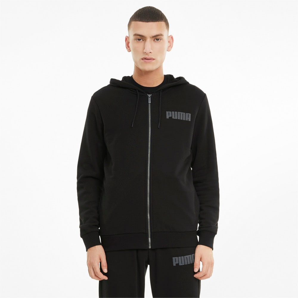 Изображение Puma Толстовка Modern Basics Full-Zip Men's Hoodie #1: Puma Black