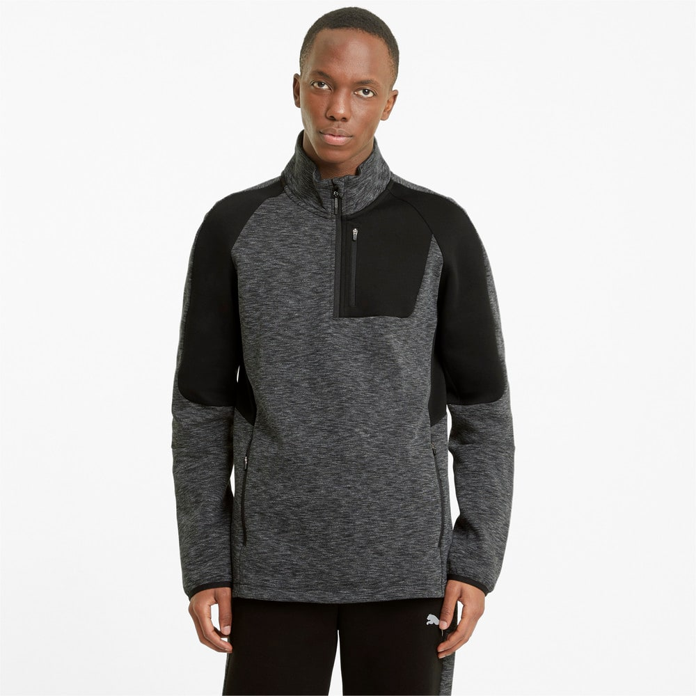 Image Puma Evostripe Half-Zip Men's Sweater #1