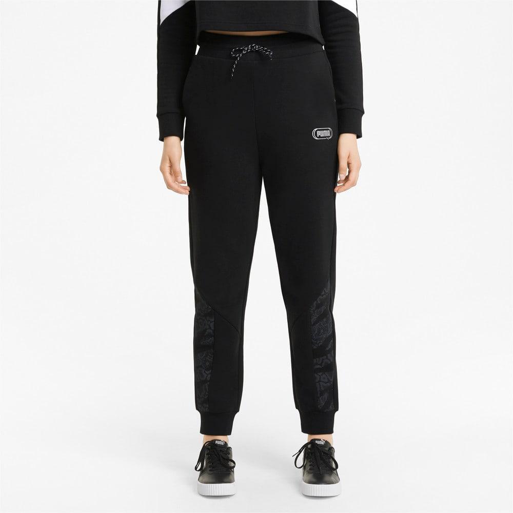 Imagen PUMA Pantalones de cintura alta para mujer Rebel #1