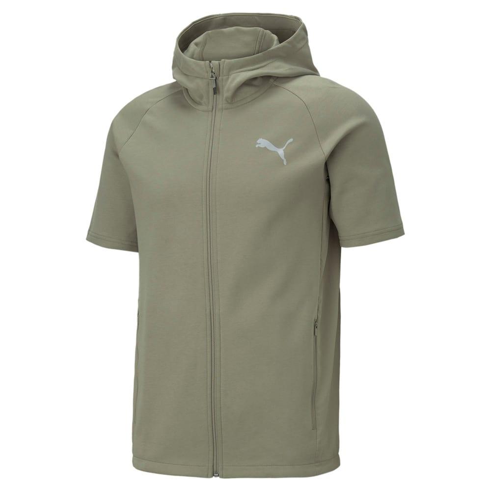 Изображение Puma Толстовка с коротким рукавом Evostripe Short Sleeve Men's Jacket #1: Vetiver