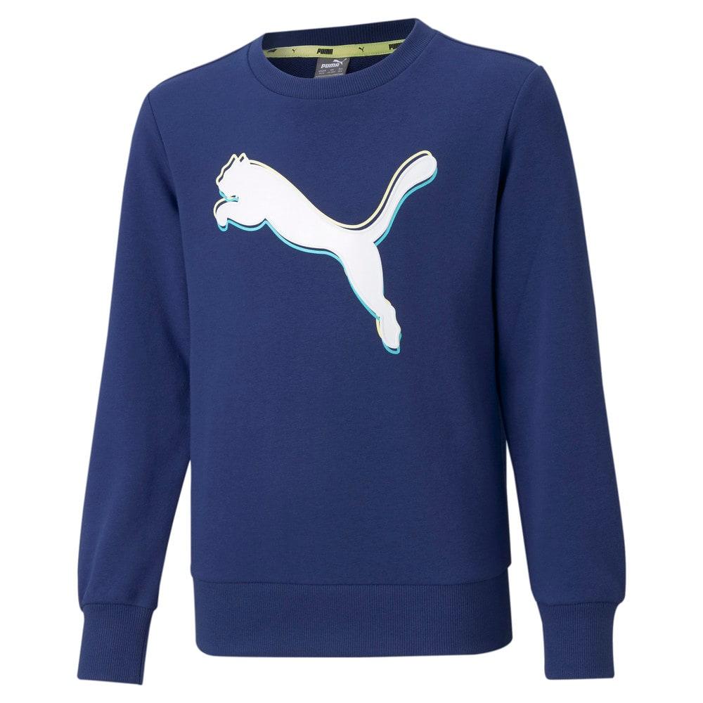 Изображение Puma Детская толстовка Alpha Crew Neck Youth Sweatshirt #1