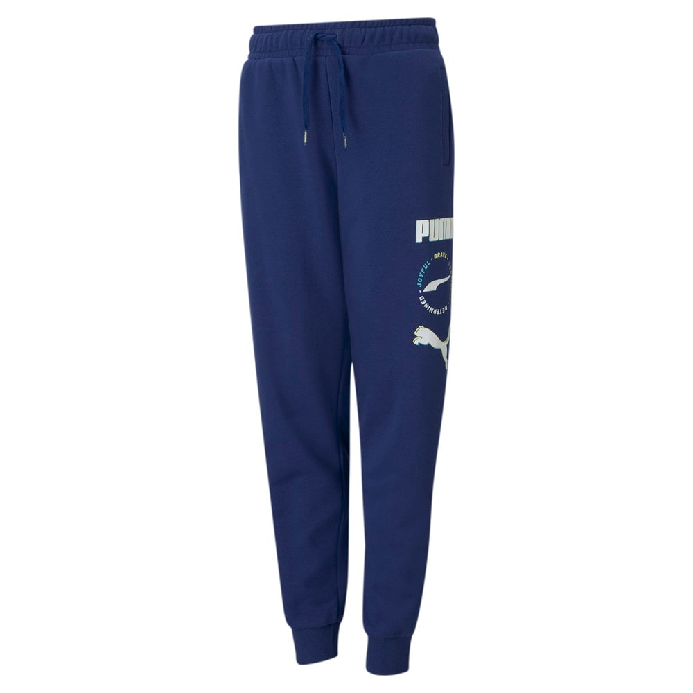 Изображение Puma Детские штаны Alpha Youth Sweatpants #1