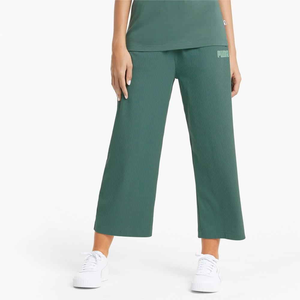 Изображение Puma Штаны Modern Basics Wide Women's Pants #1: Blue Spruce