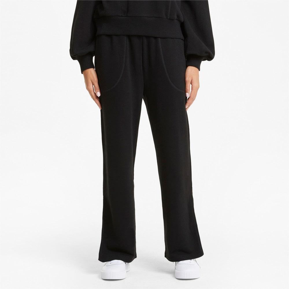 Изображение Puma Штаны HER Wide Women's Sweatpants #1: Puma Black