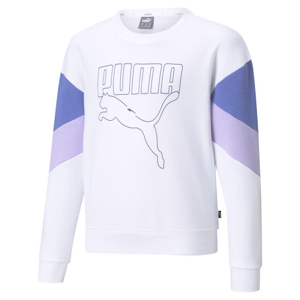 Изображение Puma Детская толстовка Rebel Crew Neck Youth Sweater #1