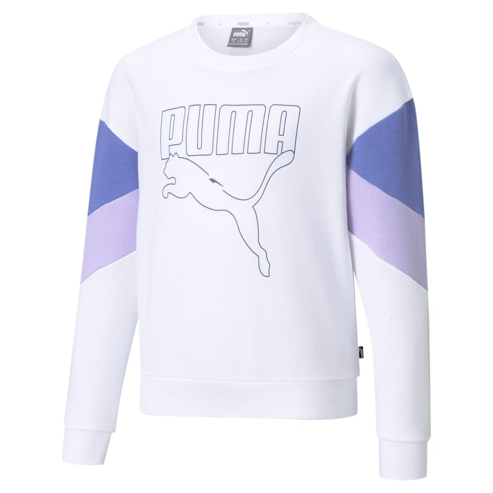 Изображение Puma Детская толстовка Rebel Crew Neck Youth Sweater #1