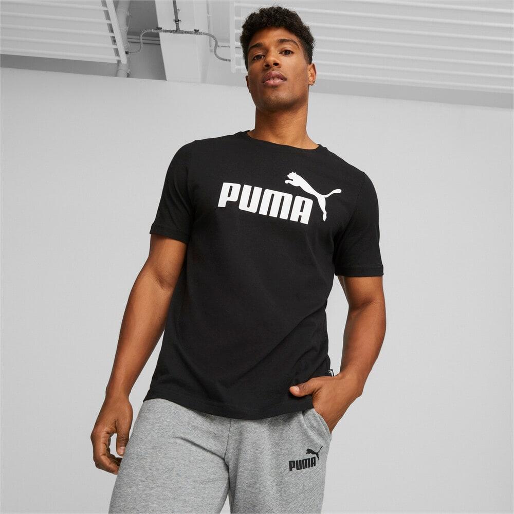 Görüntü Puma ESSENTIALS Logo Erkek T-shirt #1