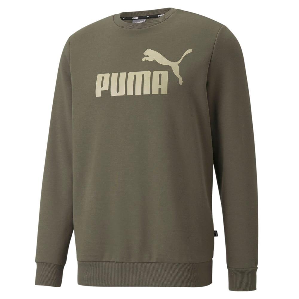 Изображение Puma Толстовка Essentials Big Logo Crew Neck Men's Sweater #1: Grape Leaf
