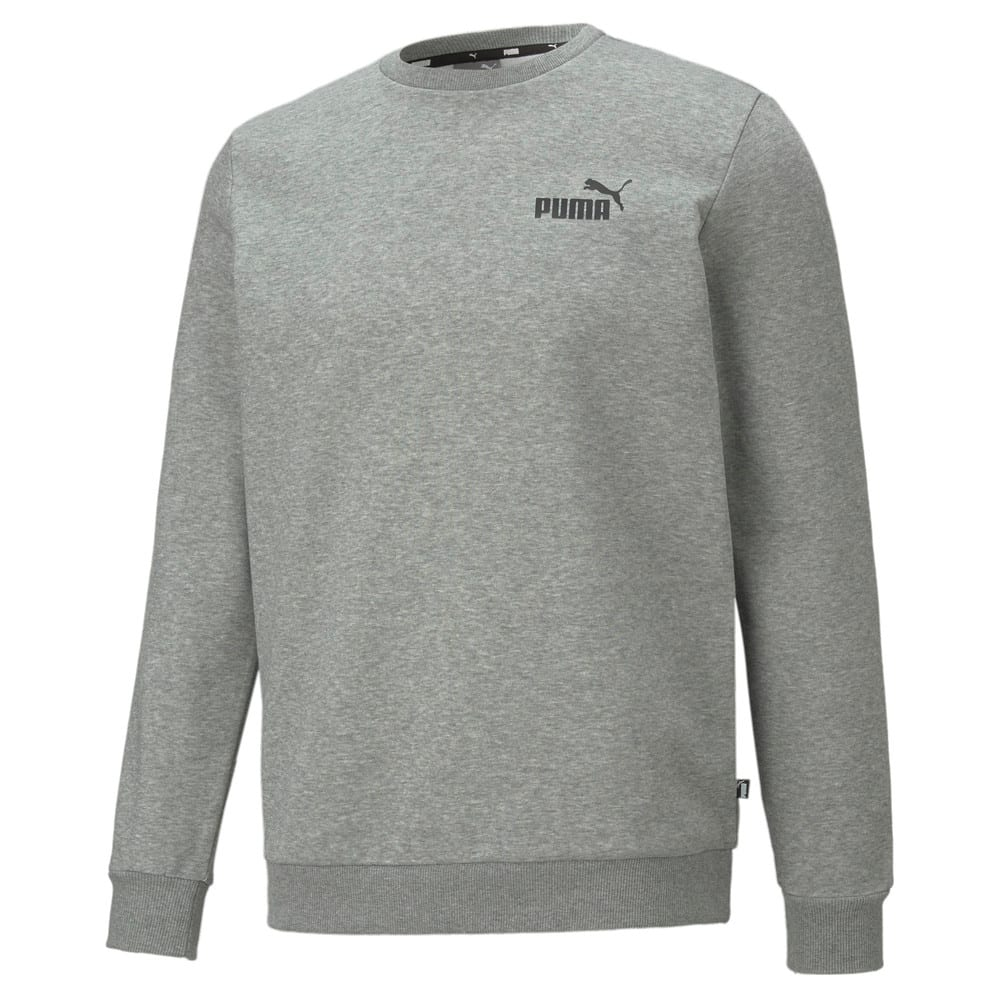 Изображение Puma Толстовка Essentials Small Logo Crew Neck Men's Sweatshirt #1: Medium Gray Heather