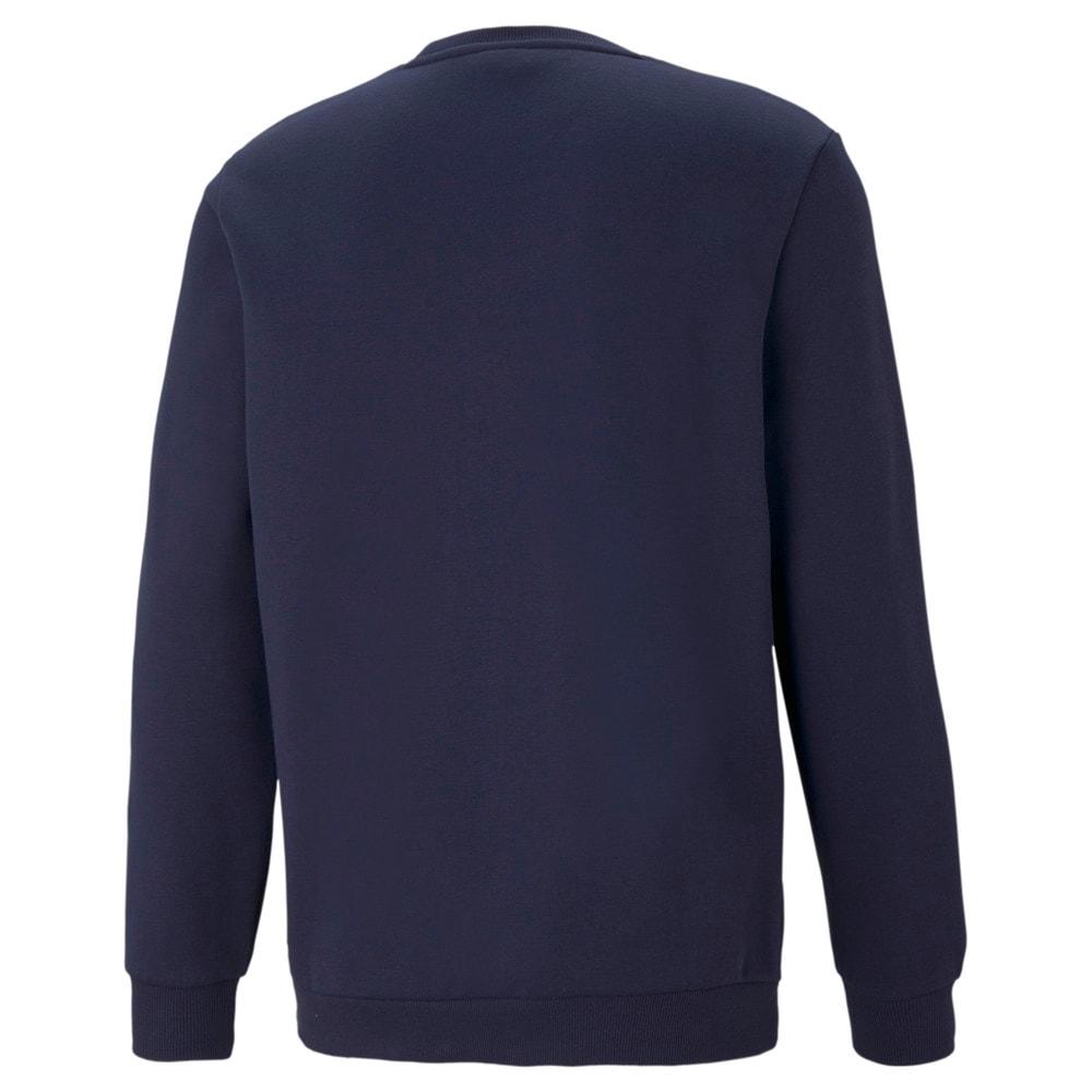 Imagen PUMA Polerón deportivo de cuello redondo y logotipo pequeño para hombre Essentials #2