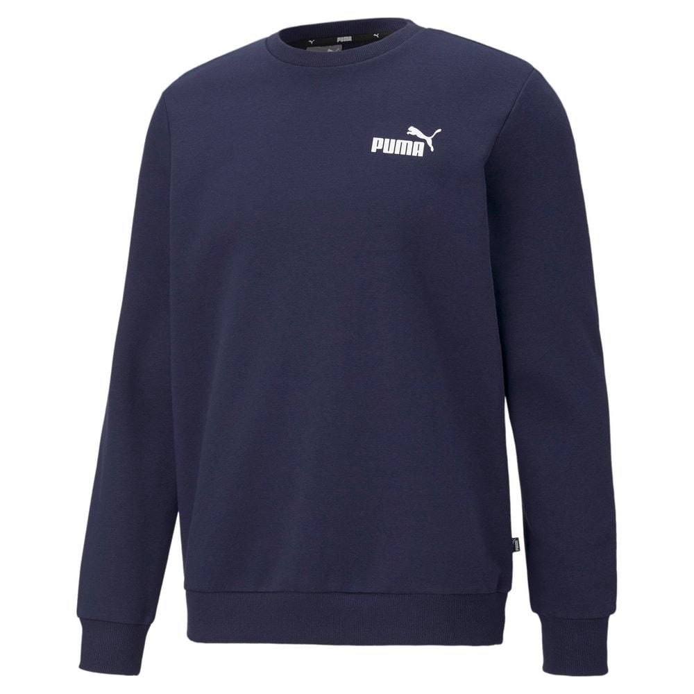 Imagen PUMA Polerón deportivo de cuello redondo y logotipo pequeño para hombre Essentials #1