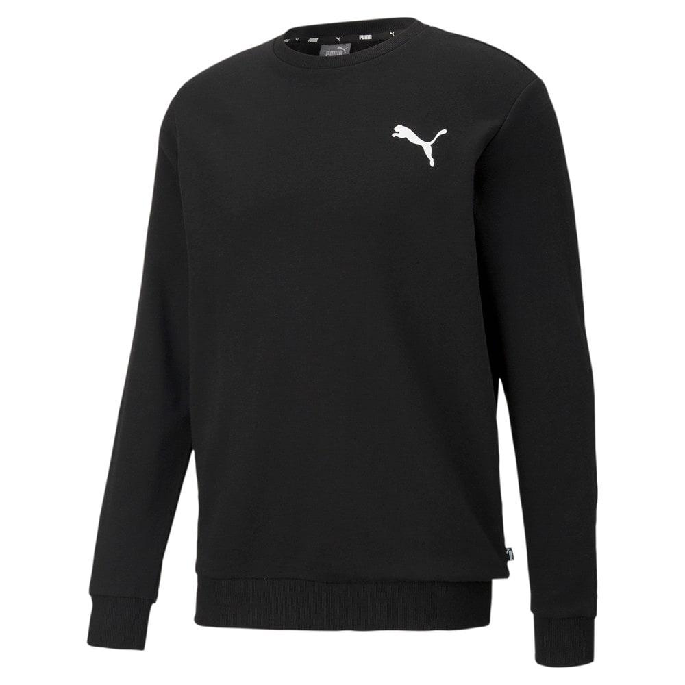 Изображение Puma Толстовка Essentials Small Logo Men's Sweatshirt #1: Puma Black-Cat