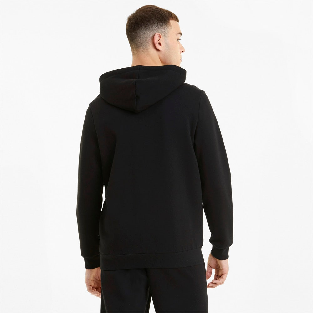 Изображение Puma Толстовка Essentials Big Logo Full-Zip Men's Hoodie #2: Puma Black