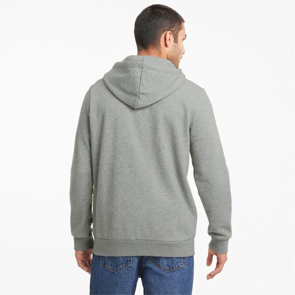 Изображение Puma Толстовка Essentials Big Logo Full-Zip Men's Hoodie #2: Medium Gray Heather