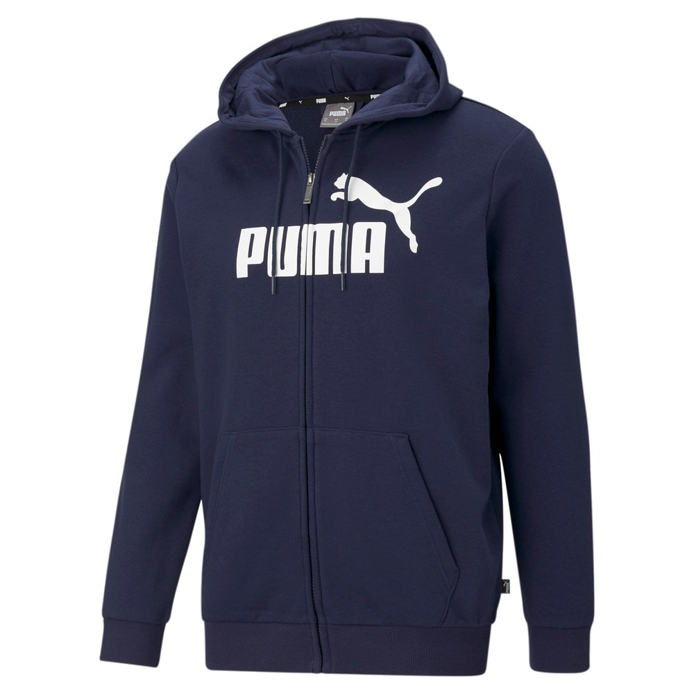 Изображение Puma Толстовка Essentials Big Logo Full-Zip Men's Hoodie #1