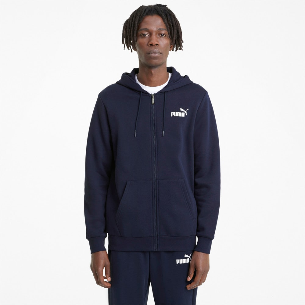 Изображение Puma Толстовка Essentials Full-Zip Logo Men's Hoodie #1