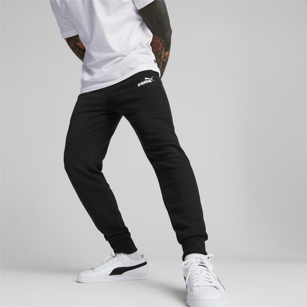 Изображение Puma Штаны Essentials Logo Men's Sweatpants #1: Puma Black