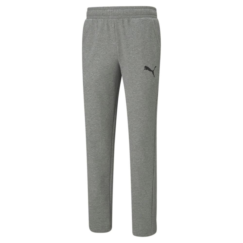 Изображение Puma Штаны Essentials Logo Men's Sweatpants #1: Medium Gray Heather-Cat