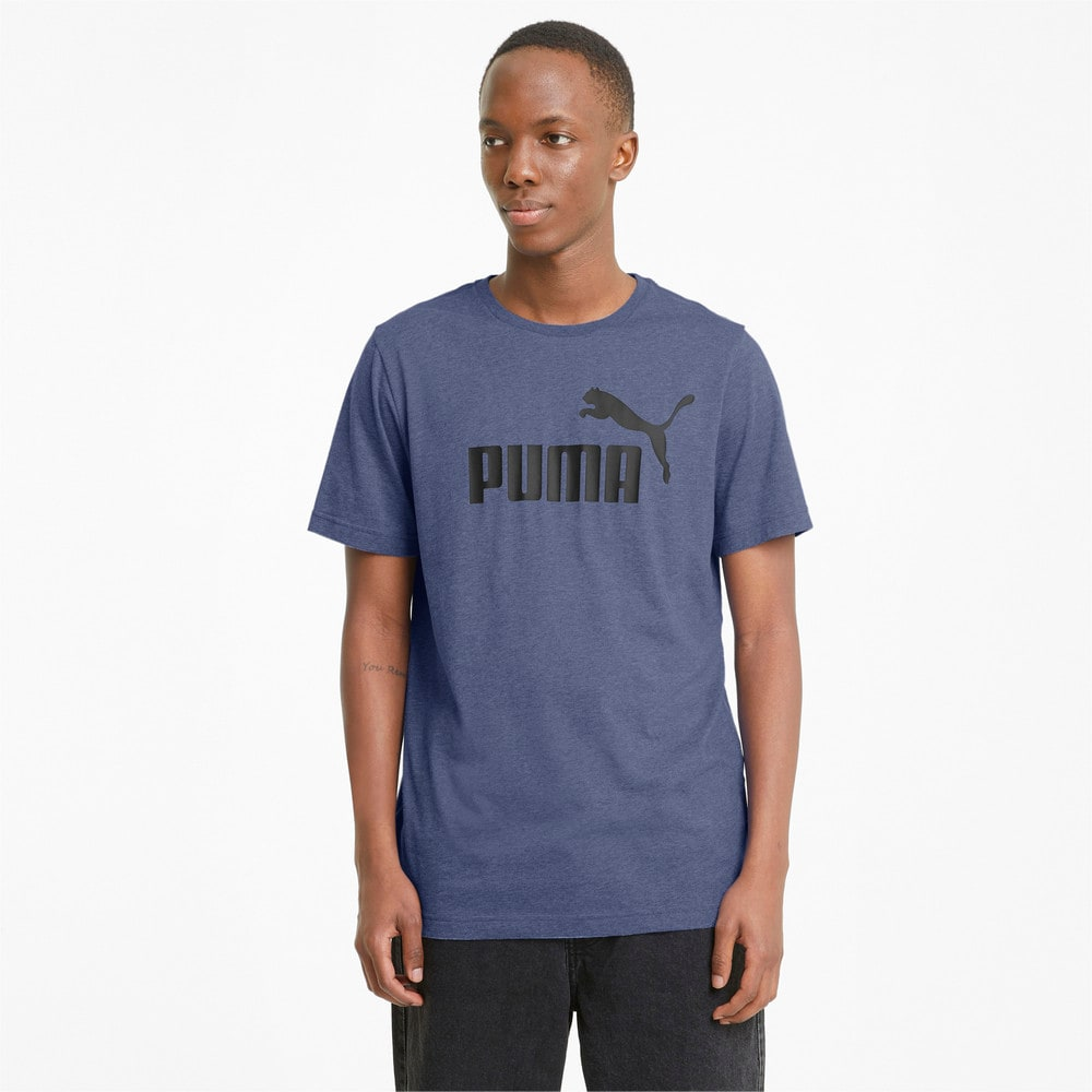 Изображение Puma Футболка Essentials Heather Men's Tee #1