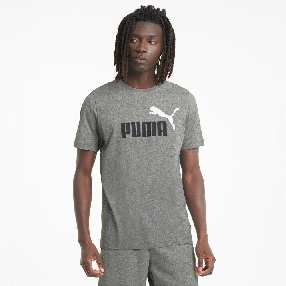 Изображение Puma Футболка Essentials+ 2 Colour Logo Men's Tee #1
