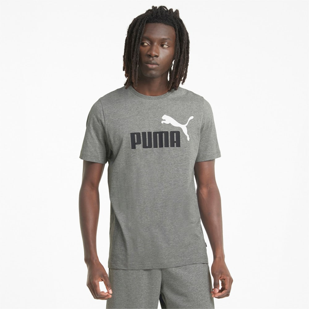 Зображення Puma Футболка Essentials+ 2 Colour Logo Men's Tee #1