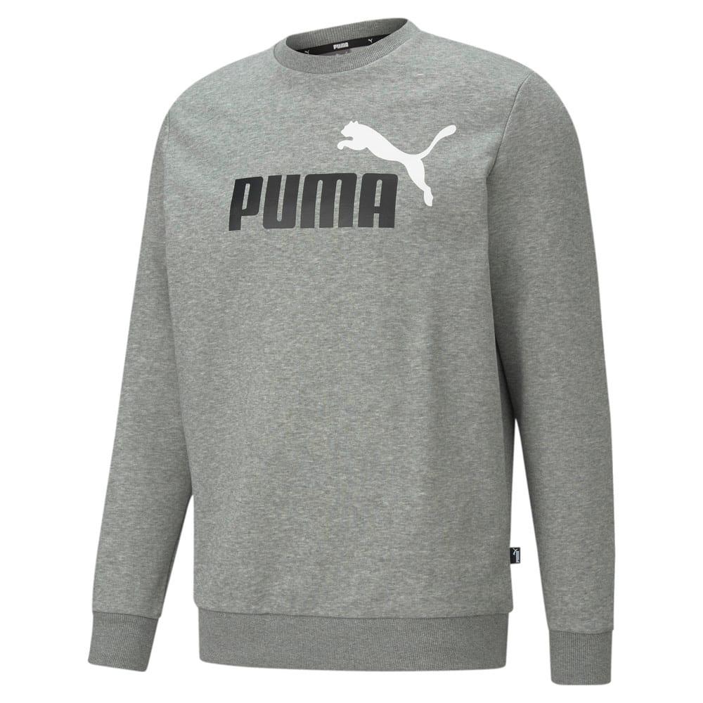 Зображення Puma Толстовка Essentials+ Two-Tone Big Logo Crew Neck Men's Sweater #1: Medium Gray Heather