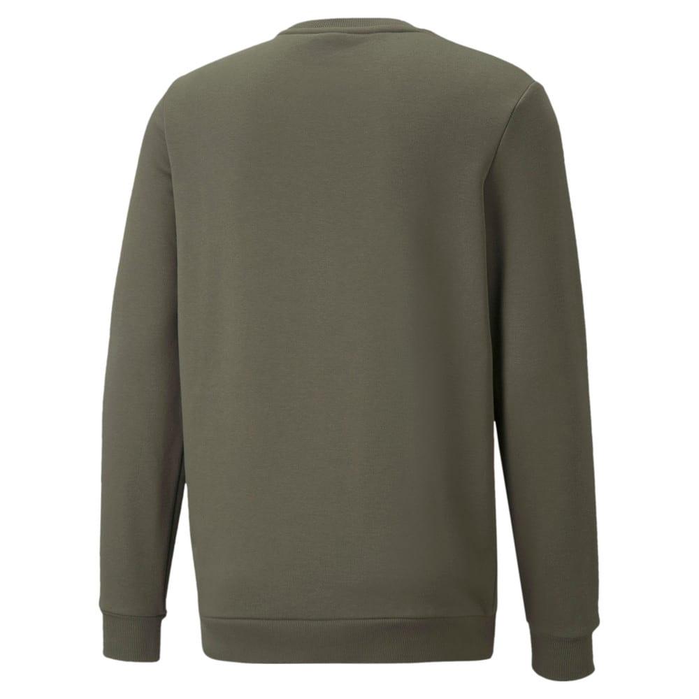 Изображение Puma Толстовка Essentials+ Two-Tone Big Logo Crew Neck Men's Sweater #2: Grape Leaf