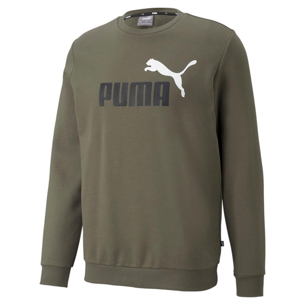 Изображение Puma Толстовка Essentials+ Two-Tone Big Logo Crew Neck Men's Sweater #1: Grape Leaf