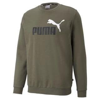 Зображення Puma Толстовка Essentials+ Two-Tone Big Logo Crew Neck Men's Sweater