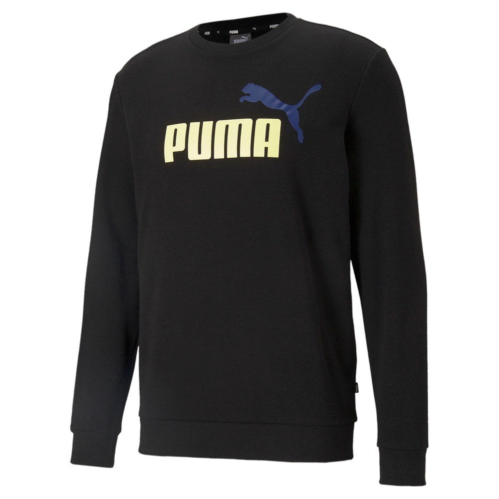 Зображення Puma Толстовка Essentials+ Two-Tone Big Logo Crew Neck Men's Sweater #1