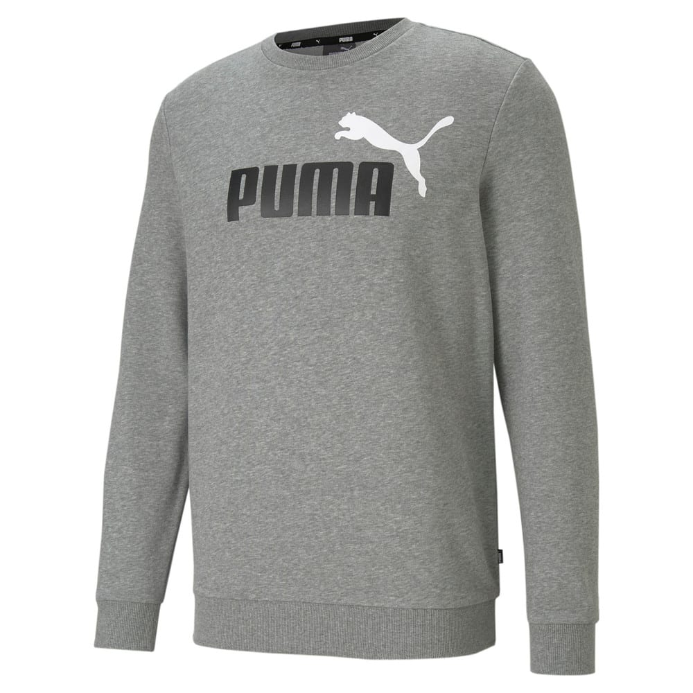 Изображение Puma Толстовка Essentials+ Two-Tone Big Logo Crew Neck Men's Sweater #1