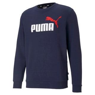 Изображение Puma Толстовка Essentials+ Two-Tone Big Logo Crew Neck Men's Sweater