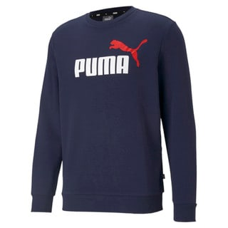 Изображение Puma Толстовка Essentials+ Two-Tone Big Logo Crew Neck Men's Sweater